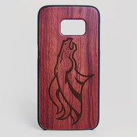 Denver Broncos Galaxy S7 Edge Case - All Wood Everything