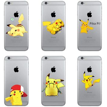 Pikachue Soft Silicone TPU Case for iPhone 4 4S 5 5S SE 5C 6S 6 Plus