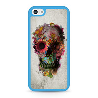 Floral Skull Art iPhone 5C case
