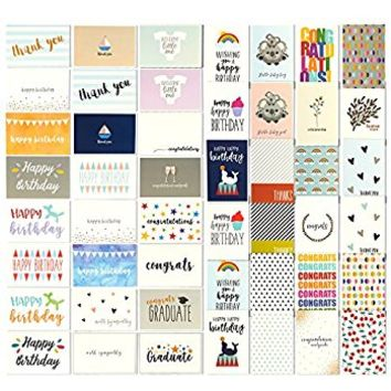 Minimalmart All Occasion Premium Greeting Cards Assortment Box organizer- 32 UNIQUE DESIGNS Birthday, Thank You, Get Well Soon, Congratulations, Wedding, Anniversary, and Friendship Bulk- GOLD STAMPED