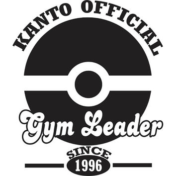 Pokemon Kanto Official Gym Leader Decal Sticker