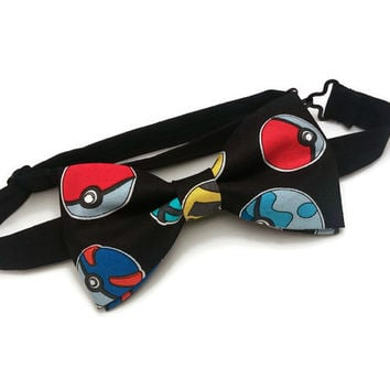 Pokemon Bow Tie• Pokemon Go Bowtie • Pokeball Bow Tie • Pokemon Gifts • Pikachu Bow Tie • Nintendo Bow Tie• Geeky Gifts • Comic Bow• Novelty