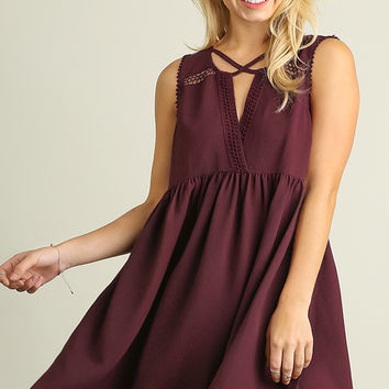 What Do You Mean Dress- Maroon