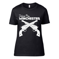 Supernatural Inspired Clothing - Future Mrs Winchester Crew Neck Tee | Dean Winchester | Sam Winchester | Supernatural | Workout Shirt