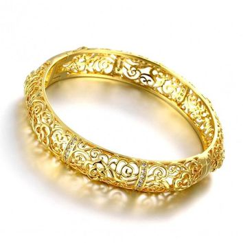 Z027-A Good Quality Nickle Free AntiallergicNew Fashion Jewelry 24K Gold Plated Bracelets