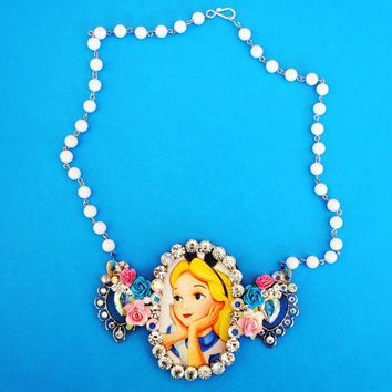 Stunning Crystal Alice in Wonderland by glamourpusscouture on Etsy