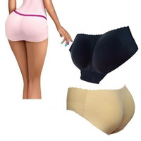 Fashioncity Padded Panty Booty M Size Black Beige Color Butt Booster Enhancer = 1645842244