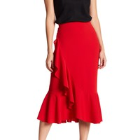 Know One Cares | Ruffle Midi Skirt | Nordstrom Rack