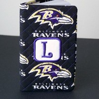 Personalized Initial Baltimore Ravens Fabric Quilted 2 Year Planner