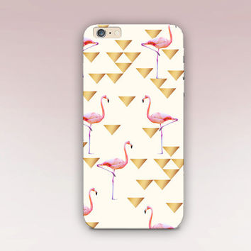Flamingo Geometric Phone Case- iPhone 6 Case- iPhone 5 Case- iPhone 4 Case - Samsung S4 Case - iPhone 5C - Tough Case - Matte Case - Samsung
