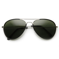 Classic Designer Metal Teardrop Aviator Sunglasses 9324