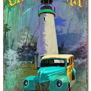 California Light House  Old Woody Nostalgic Reproduction Sign 12″x18″