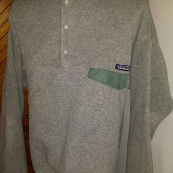Vintage 90s Grey Gradient Patagonia T Snap Fleece