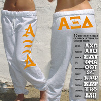 Sorority Printed Sweatpants - 10 Fonts | Sorority clothing and apparel from SomethingGreek.com