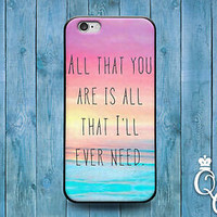 Cute Song Lyric Music Phone Case Quote Cover iPod Touch iPhone 4 4s 5 5s 5c 6 +