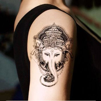 50Pcs ~ Elephant Tattoo ~Waterproof Temporary
