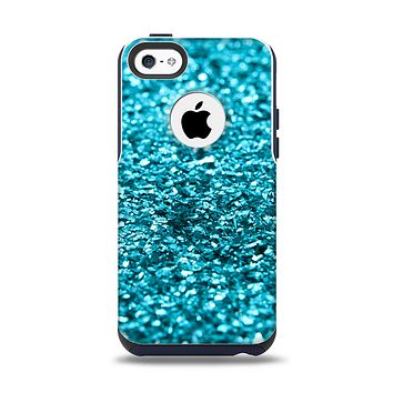 The Turquoise Glimmer Apple iPhone 5c Otterbox Commuter Case Skin Set