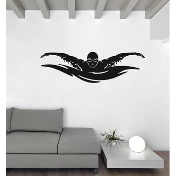 Wall Vinyl Decal Sticker Water Games Sports Pool Swimming Sign (n1168)