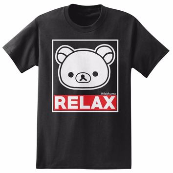 ANIME Rilakkuma The Bear RELAX T-Shirt NWT 100% Authentic & Licensed