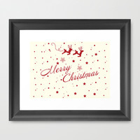 Merry Christmas.  Framed Art Print by Irmak Berktas