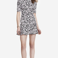 SNAKE PRINT DROP WAIST DRESS from EXPRESS