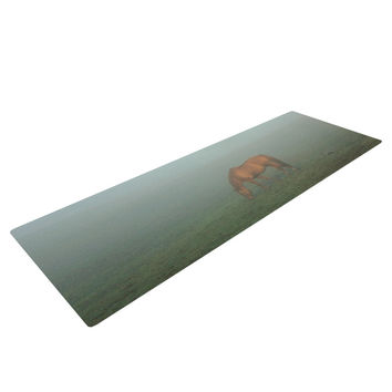 "Angie Turner ""Horse in Fog"" Blue Mist Yoga Mat"