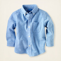 baby boy - long sleeve tops - oxford shirt | Children's Clothing | Kids Clothes | The Children's Place