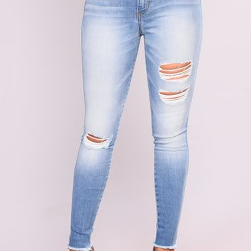Beni Recycled Fabric Jeans - Medium Blue