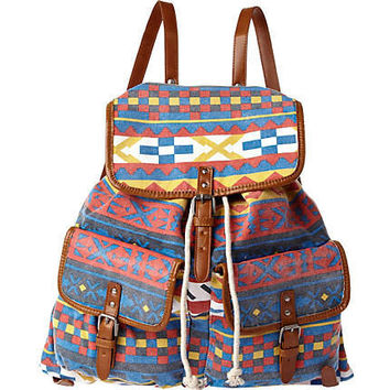 Blue Red Yellow Aztec Backpack