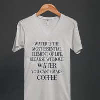 WATER IS MOST ESSENTIAL - COFFEE - Underline Designs - Skreened T-shirts, Organic Shirts, Hoodies, Kids Tees, Baby One-Pieces and Tote Bags