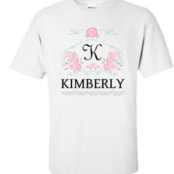 Personalized Pretty Women's Shirt With Initial And Name