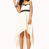 Strapless Layered High-Low Dress