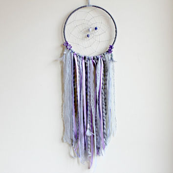 Dream Catcher, Flower Dreamcatcher, Large Dream Catcher, Boho Decor, Nursery Dreamcatcher, Wedding Dreamcatcher, Bohemian Decor, Boho Chic