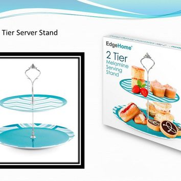 Two Tier Melamine Serving Tray - CASE OF 12