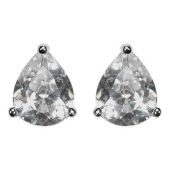 Kanisha Pear CZ Stud Earrings - 6mm | 0.5ct