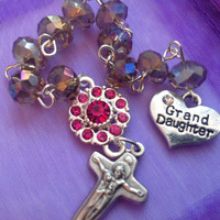 Grand Daughter Handmade Pocket  Rosary One Decade Tenner Chaplet