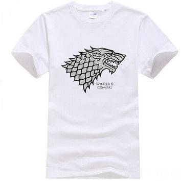 Game of Thrones Stark Winterfell Wolf T-shirt
