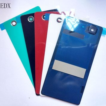 JEDX For Sony Xperia Z3 Compact D5803 D5833 Glass Battery Cover Door Housing Z3 Mini Rear Back Glass Case