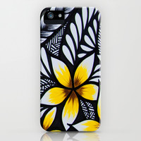 mini plumeria iPhone & iPod Case by Lonica Photography & Poly Designs