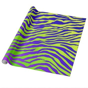 Green Zebra Wrapping Paper