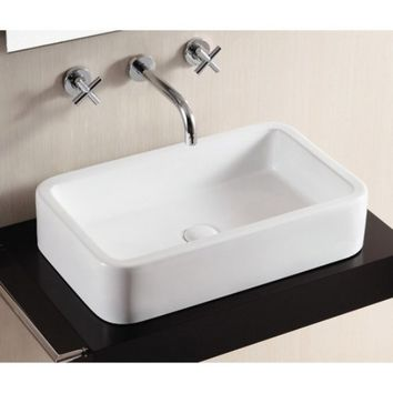 Caracalla by Nameeks CA4962 Bathroom Sink - White | Hayneedle