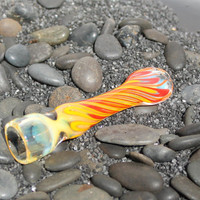 Inside out chillum hitter color changing glass pipe AMERICAN made