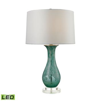 D2727-LED Swirl Glass LED Table Lamp in Aqua - Free Shipping!