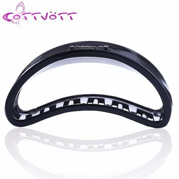 New Large Moon Plastic Hair Claws for Women Thick Hair Curved Hair Jaw Clips Crab Clamp Grasp Accessories Girls Hairwear FZ12