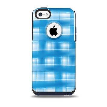 Overlapping Blue Woven Skin for the iPhone 5c OtterBox Commuter Case