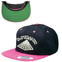 Black Pyramid Snapback Hat
