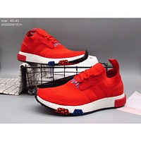 Adidas pedal socks shoes lazy shoes men casual tide shoes cloth shoes F-A36H-MY Red