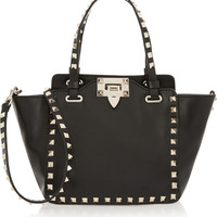 Valentino - The Rockstud mini leather trapeze bag
