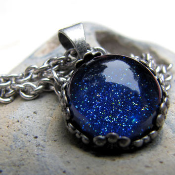Starry Night Necklace  Petite Dome Necklace  by AshleySpatula