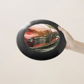 Personalized Red Truck Frisbee